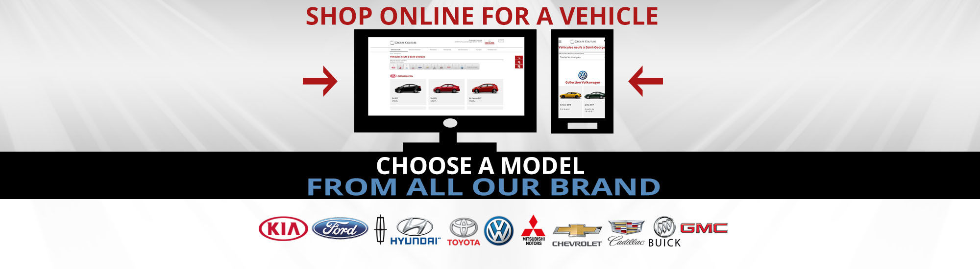 shop online for a vehicle