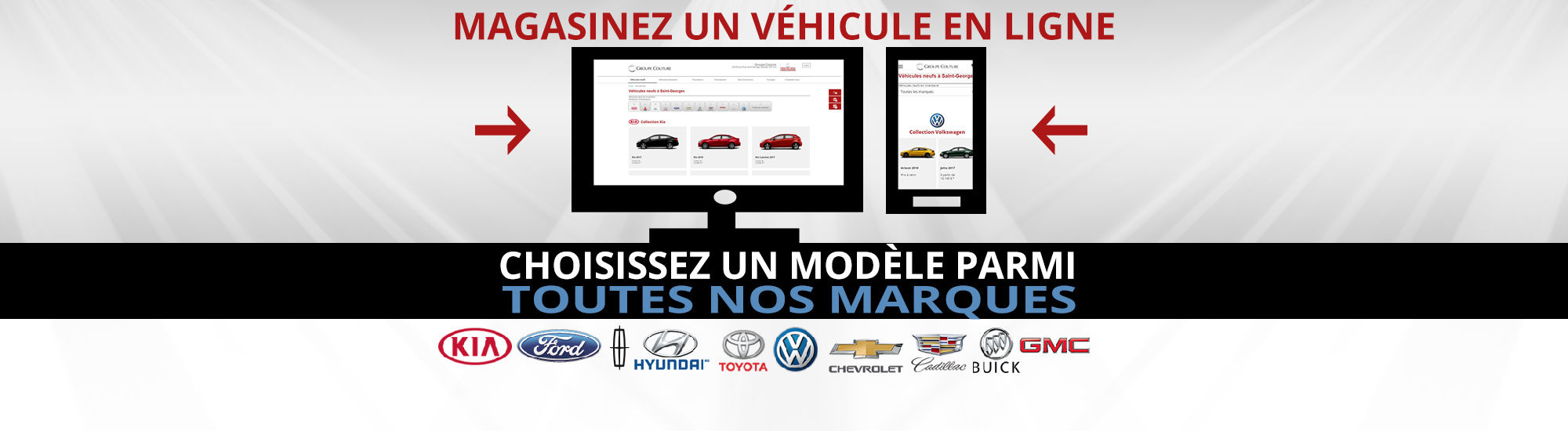Magasinez un véhicule en ligne