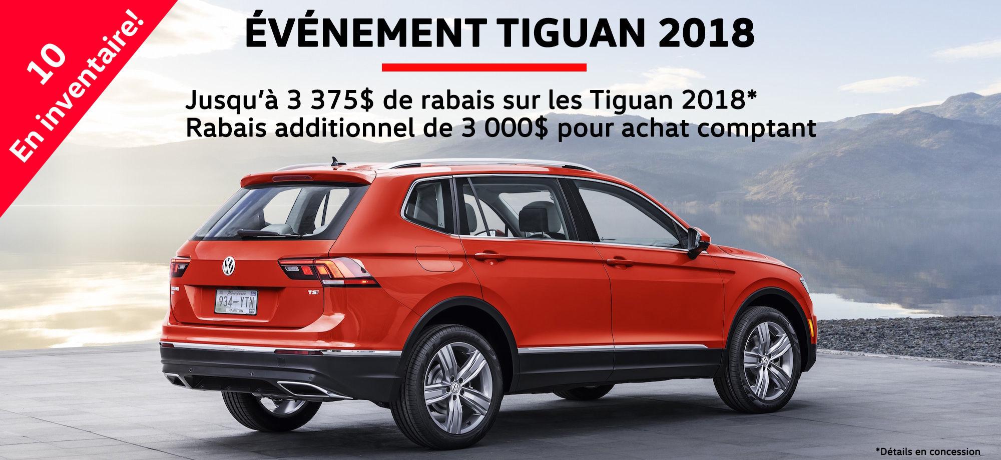 Liquidation Tiguan 2018