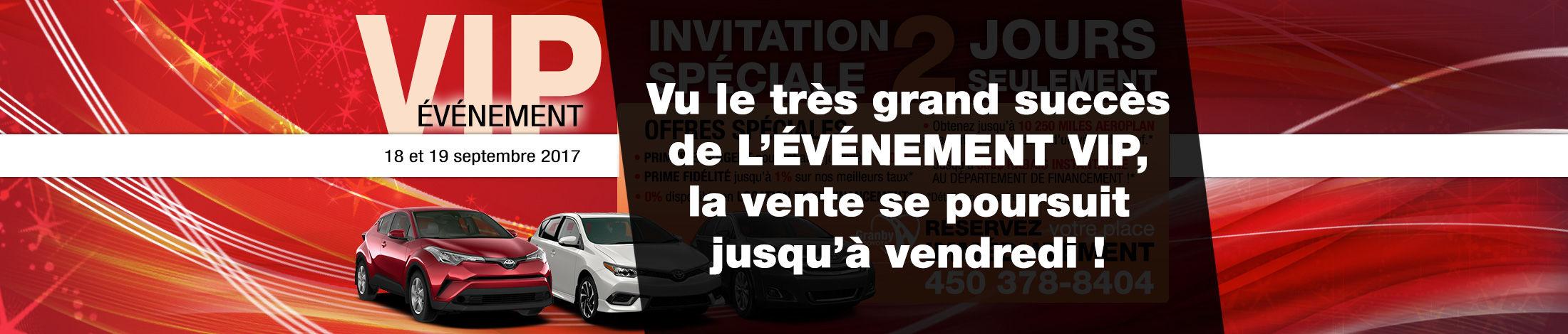 Événement VIP