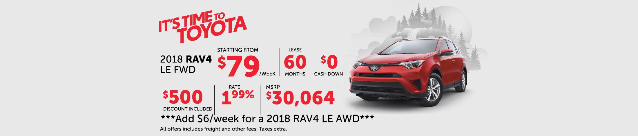 2018 Rav4 LE FWD
