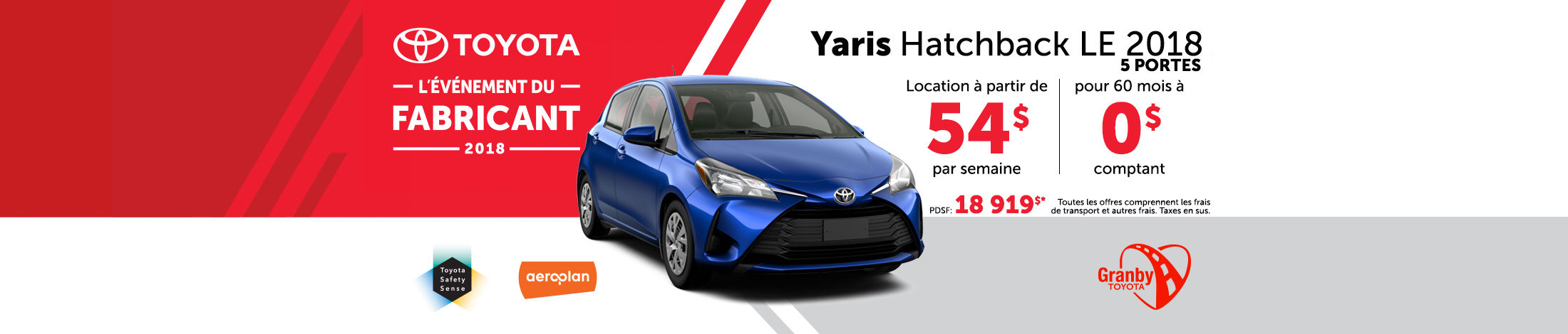 Yaris Hatchback LE 2018 promotion