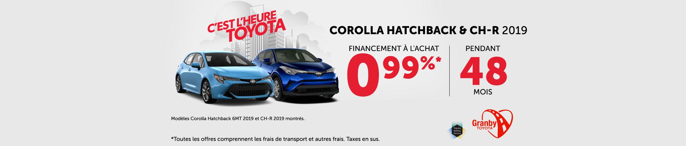 Corolla S hatchback & C-HR  2019