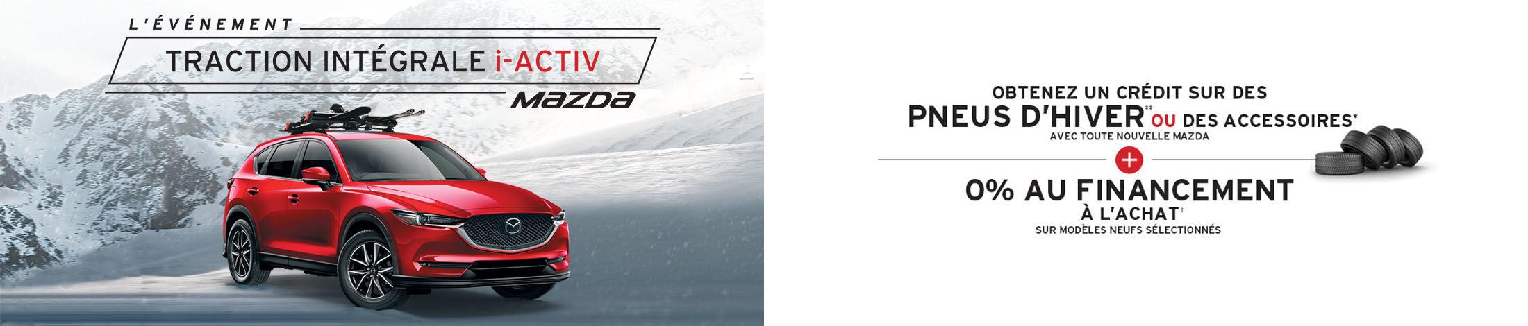 L'événement traction intégrale i-active Mazda