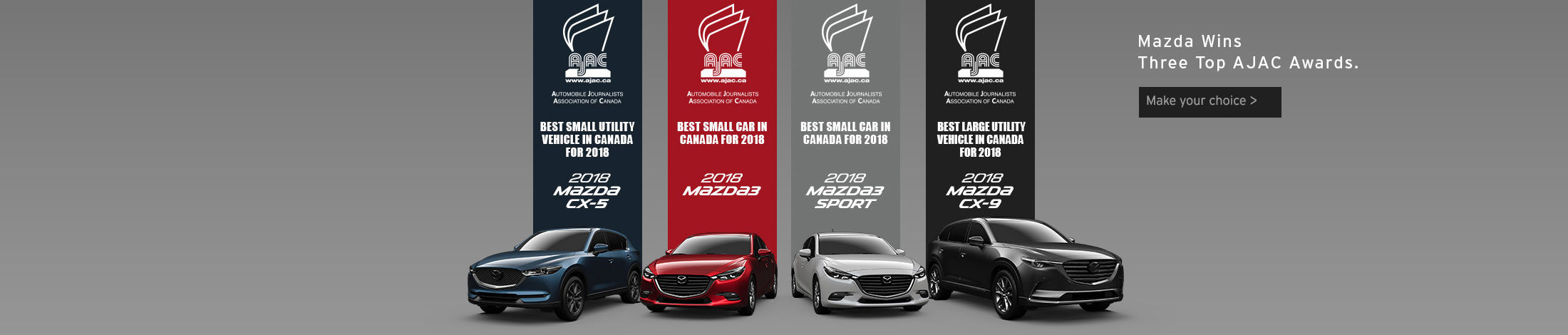Mazda wins three top Ajac awards