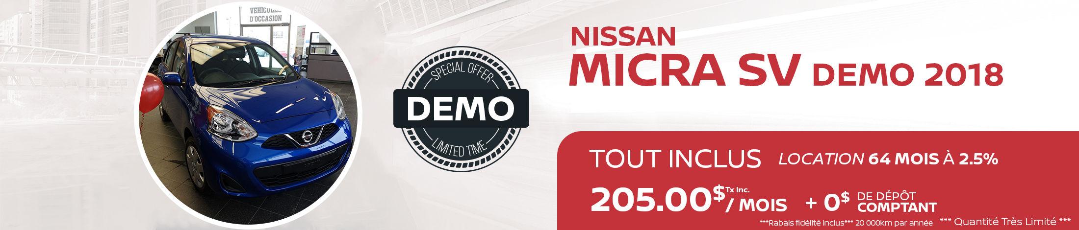 Demo Micra SV