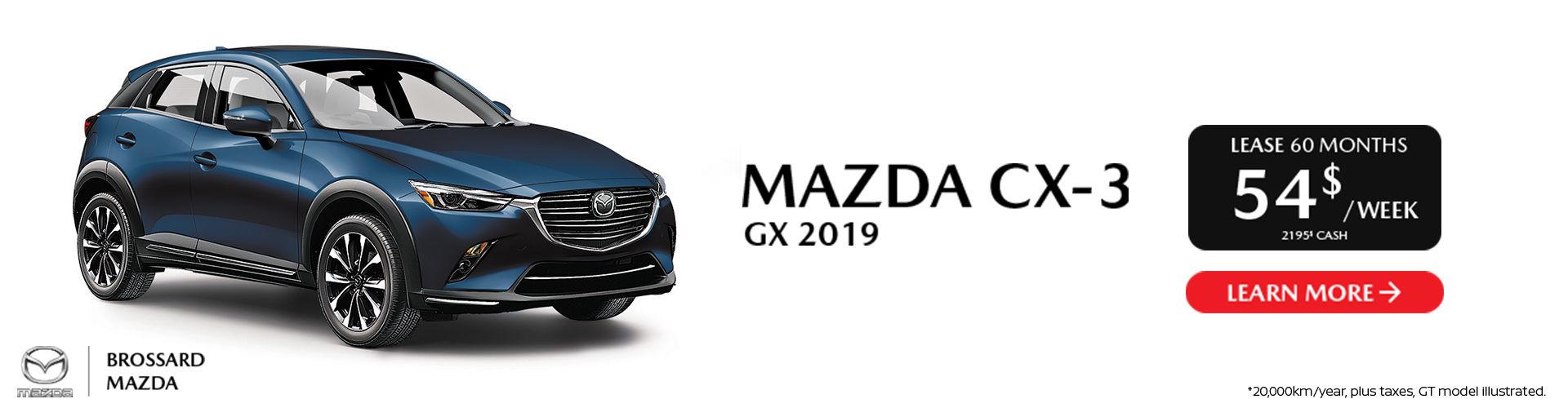 Mazda CX-3 2019 - St-Jean