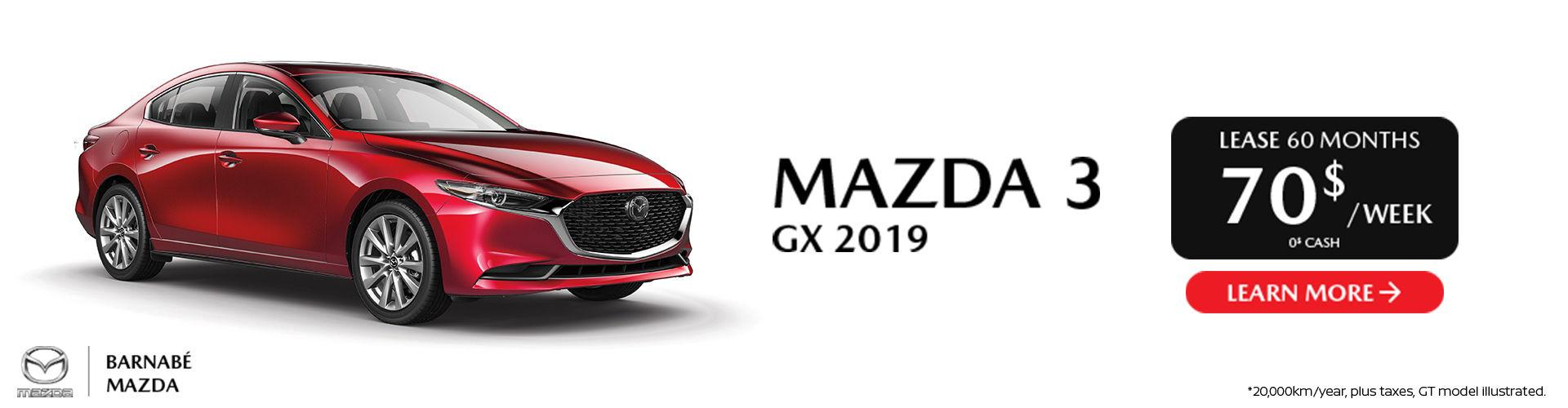 Mazda 3 GX 2019 - St-Jean