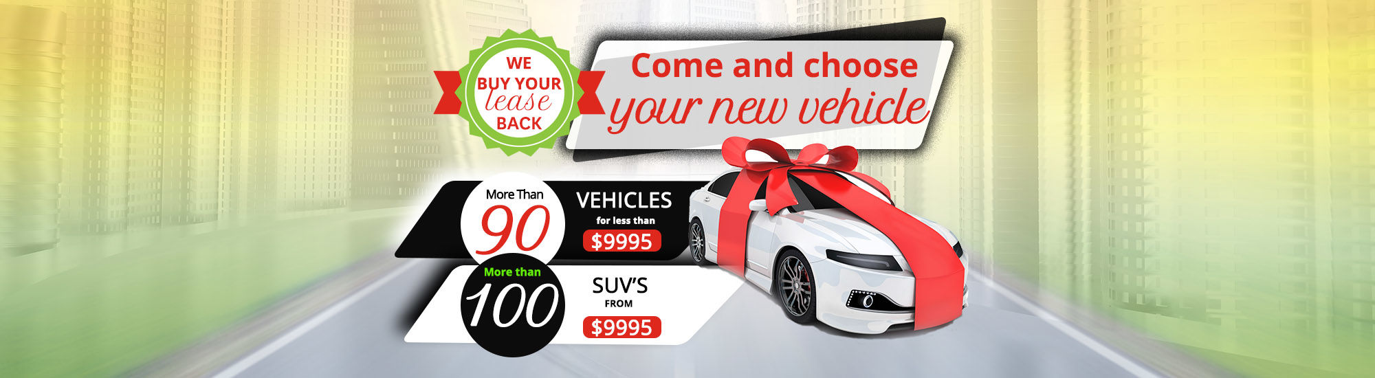 Come and choose your new vehicle