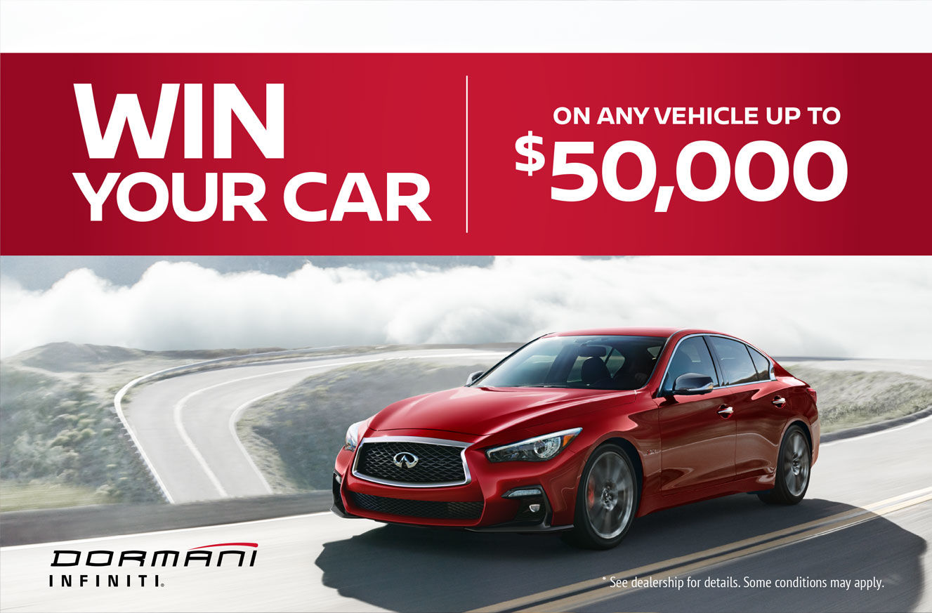 Win your car - Dormani Infiniti Promotion in Gatineau