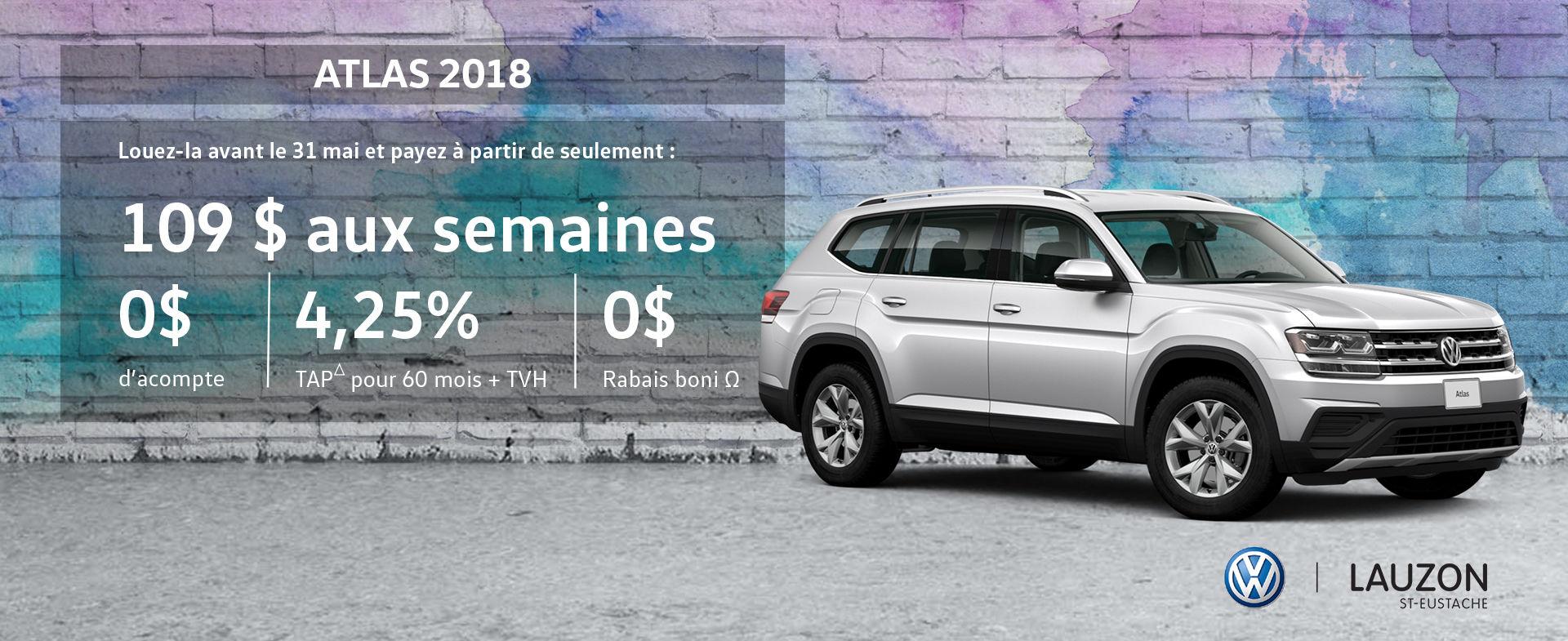 Promotion mai 2018 Volkswagen Atlas VW Lauzon St-Eustache