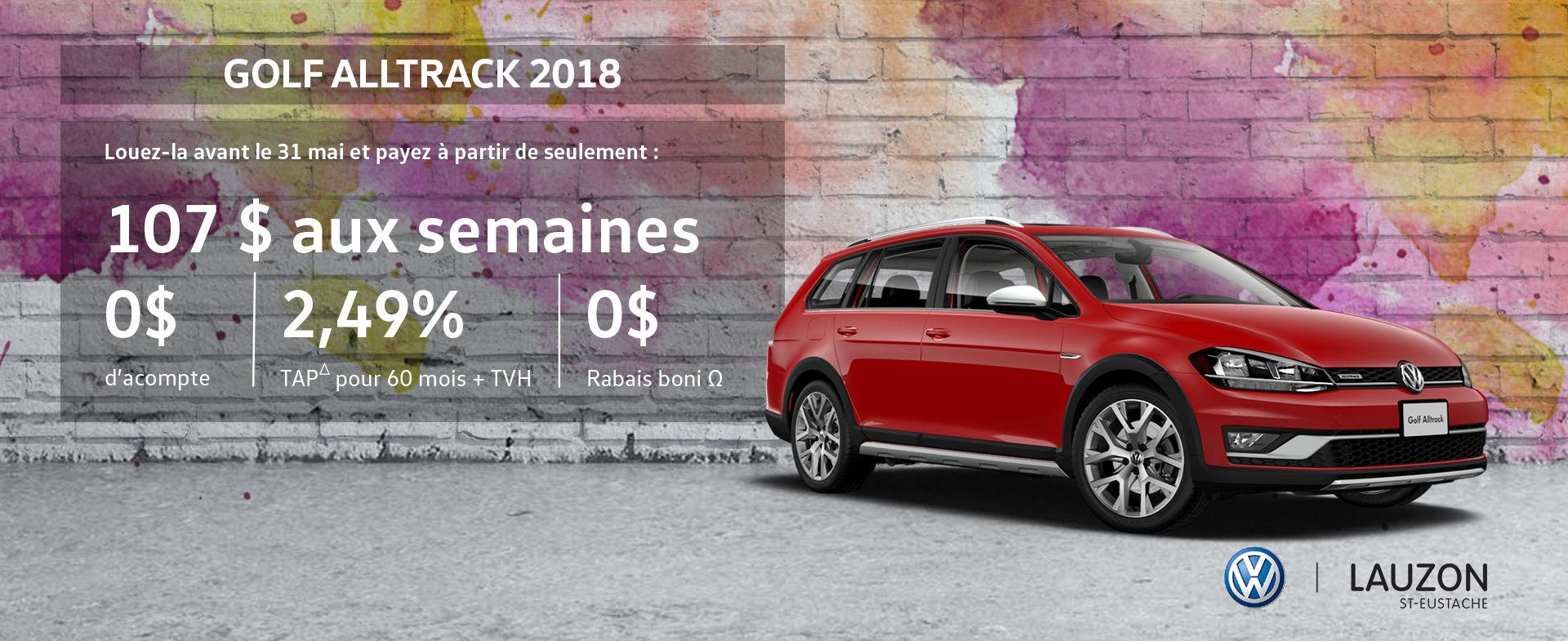 Promotion mai 2018 Volkswagen Golf Alltrack VW Lauzon St-Eustache