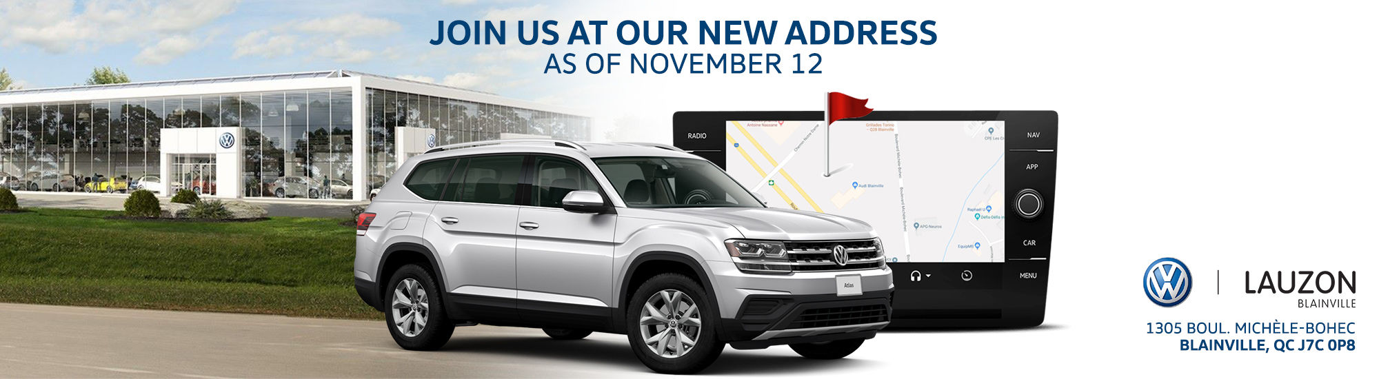 new vw blainville location