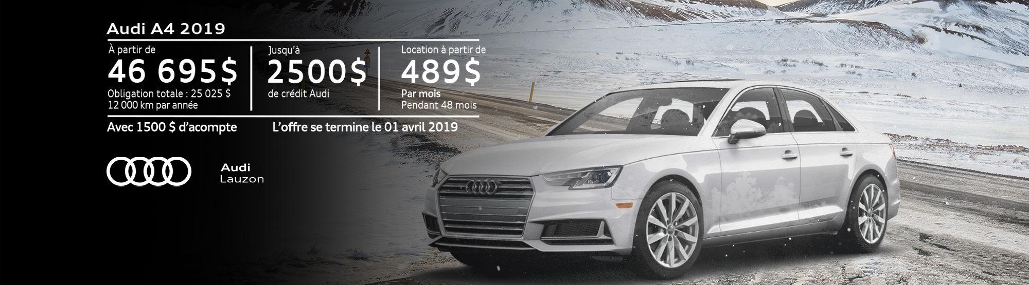 Audi A4 mars 2019