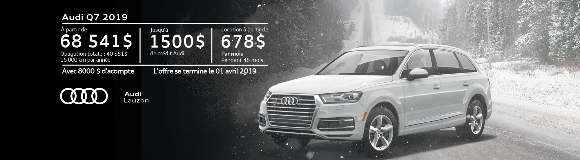 Audi Q7 mars 2019