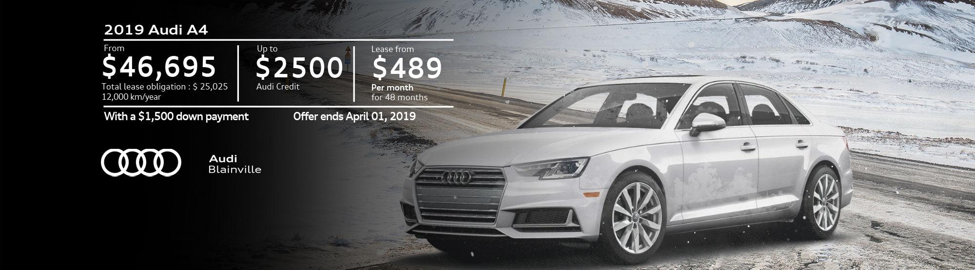 Audi A4 March 2019