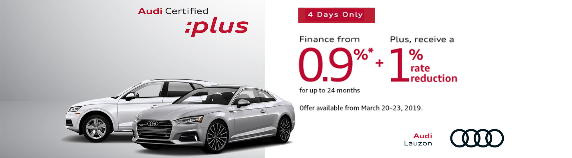 Audi Certified plus Event March 2019