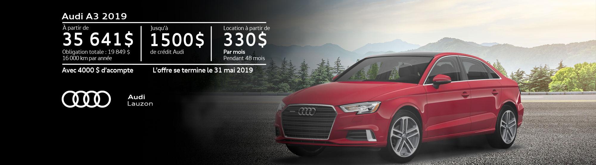 Audi A3 mai 2019