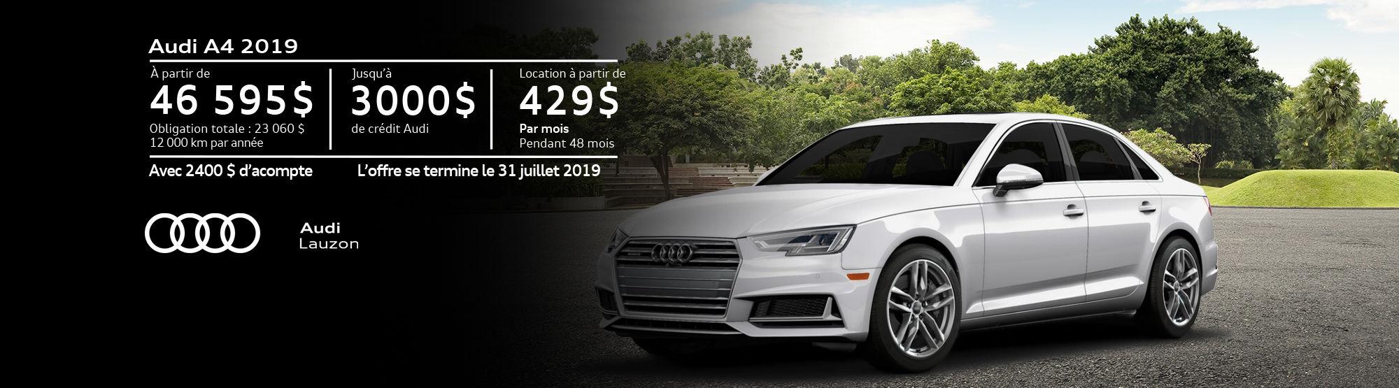 Audi A4 juillet 2019