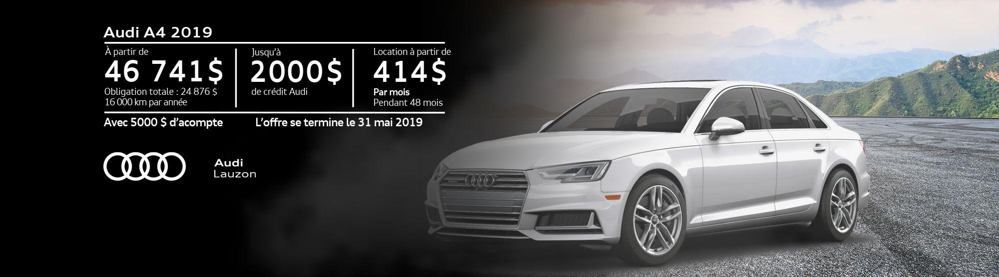 Audi A4 mai 2019