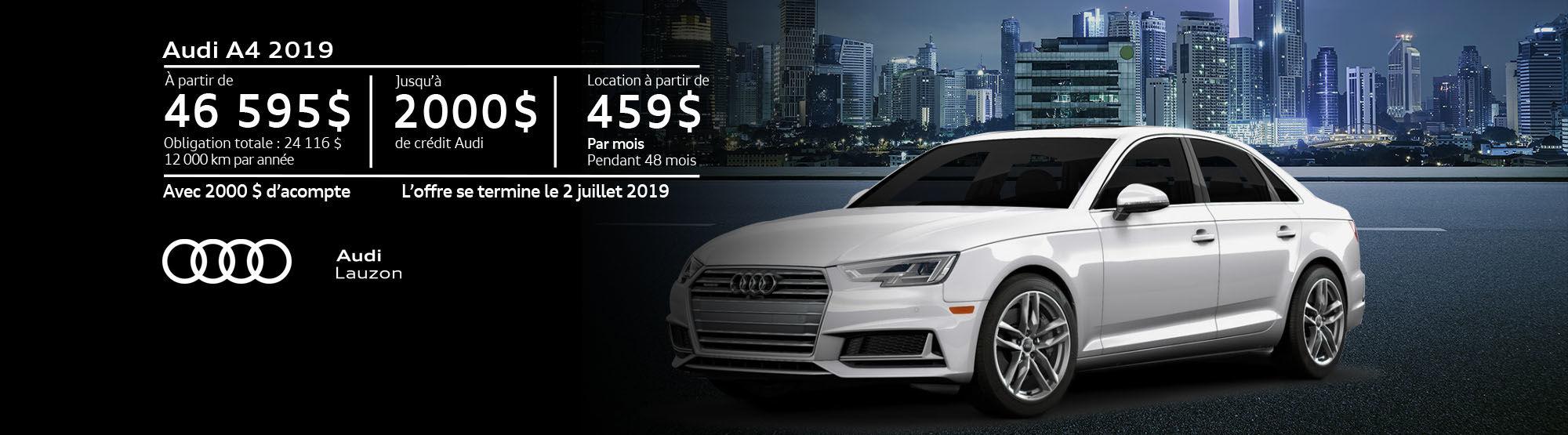 Audi A4 juin 2019