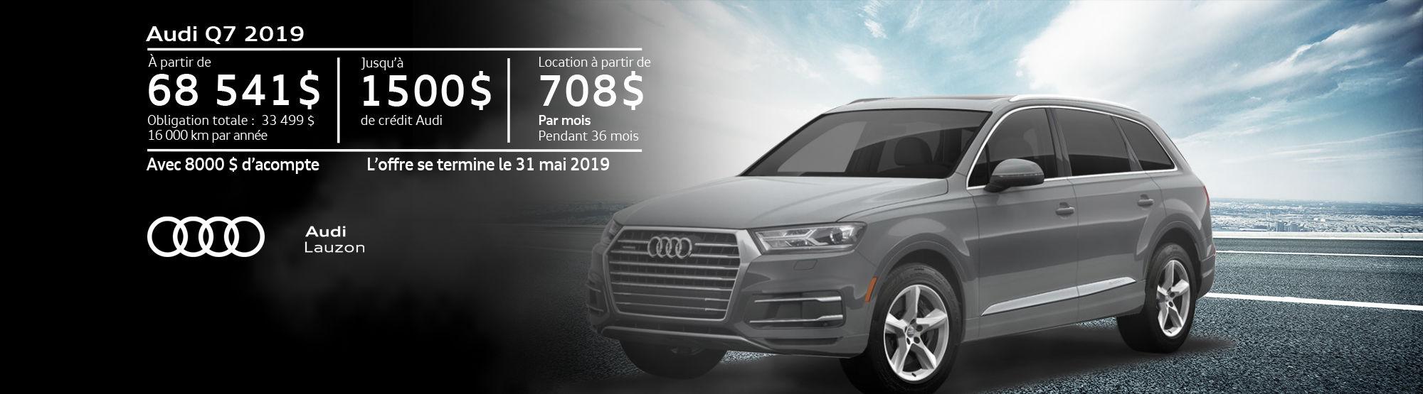 Audi Q7 mai 2019