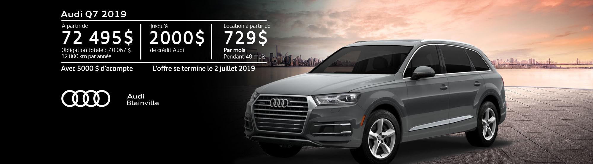 Audi Q7 juin 2019