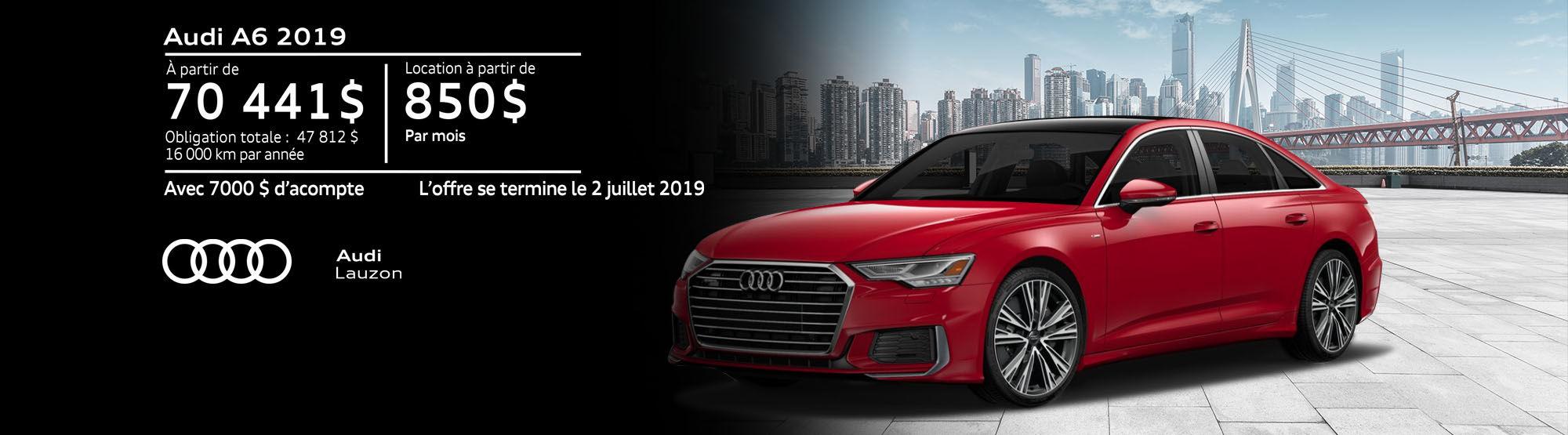 Audi A6 juin 2019
