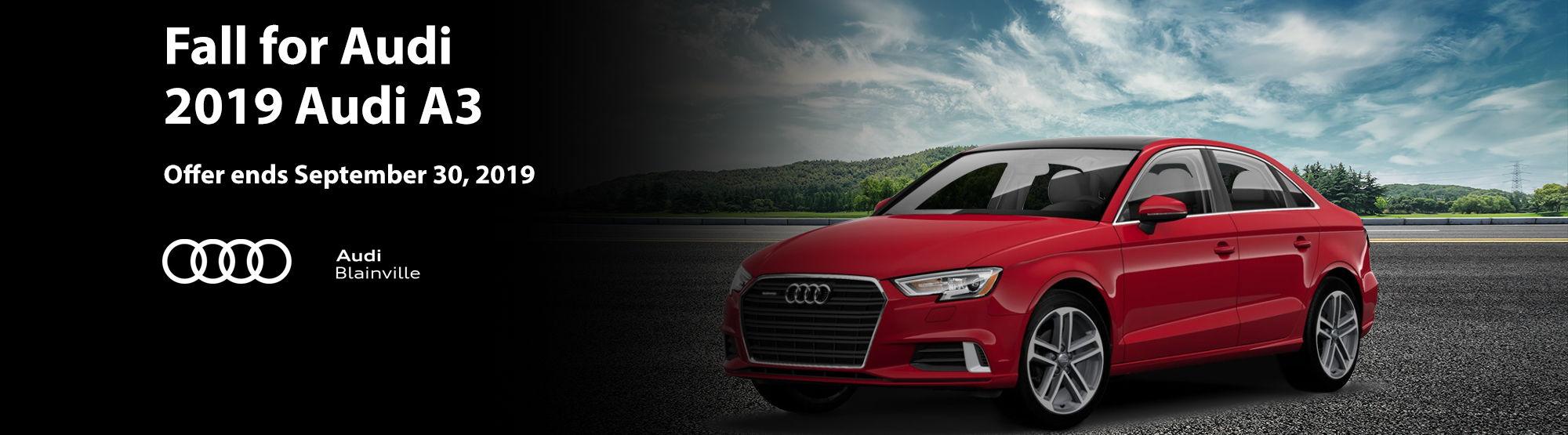 Audi A3 September 2019