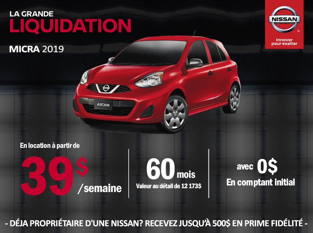 Promotion Nissan Micra 2019 | Longueuil Nissan à Longueuil ...