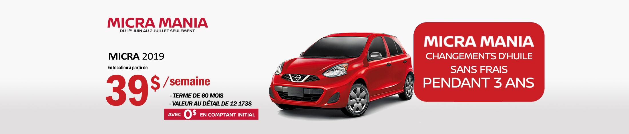 Nissan Micra Promotion juin
