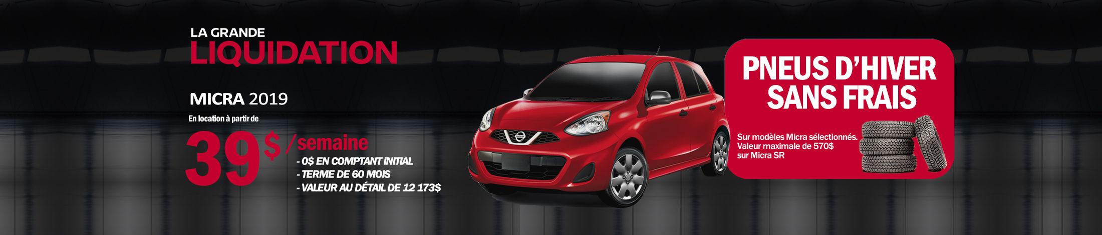 Nissan Micra Promotion septembre