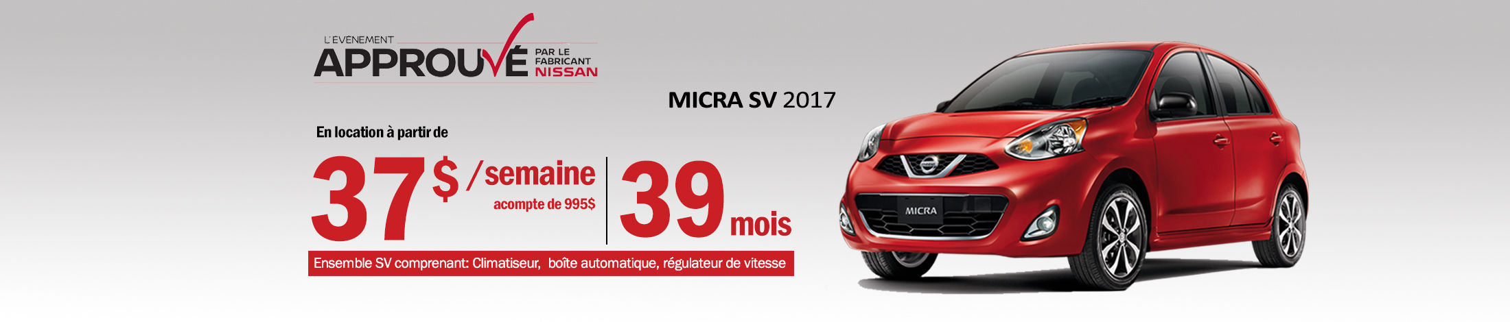 Nissan Micra Promotion Mai - Banner
