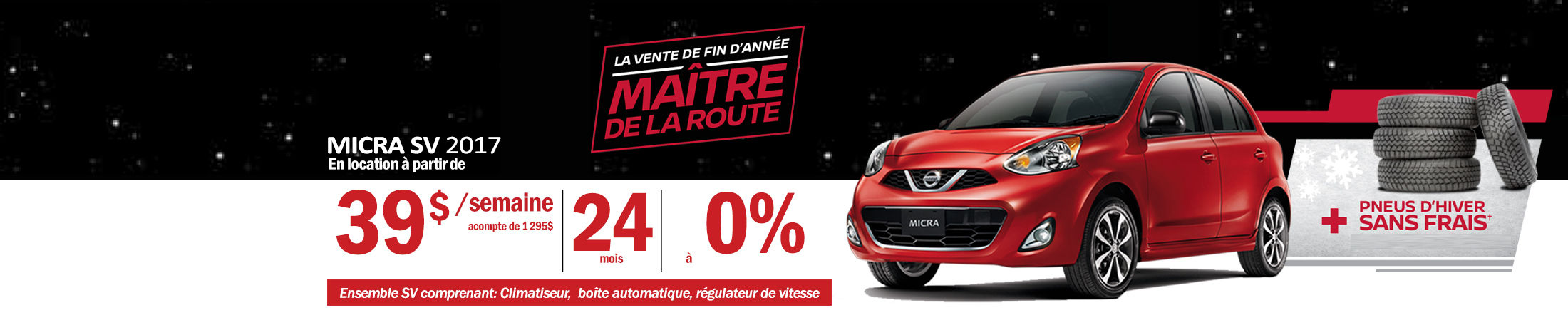 Nissan Micra Promotion novembre - Banner