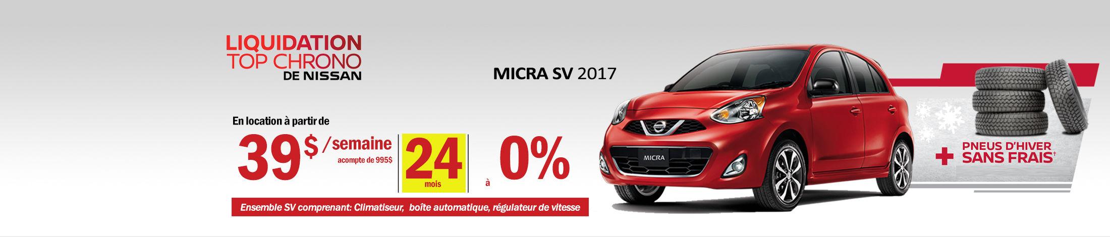 Nissan Micra Promotion octobre - Banner