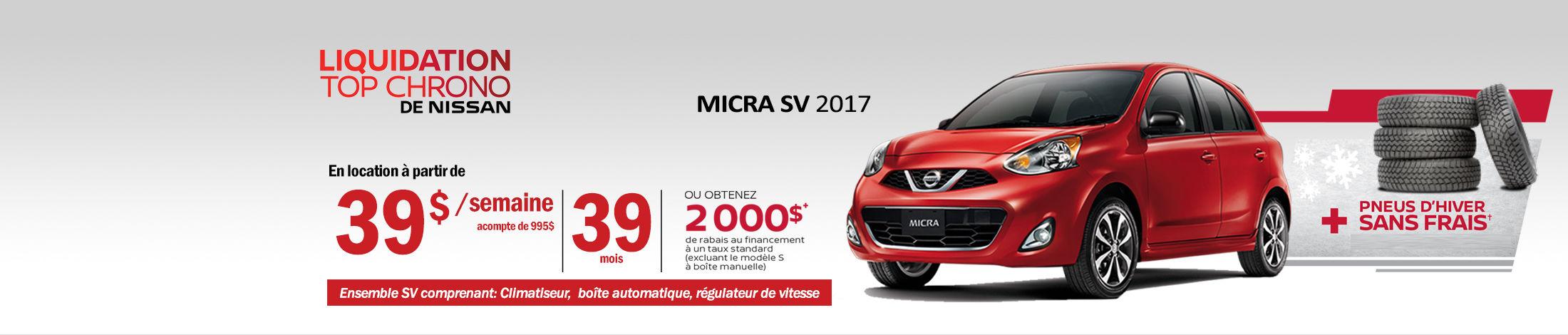 Nissan Micra Promotion septembre - Banner