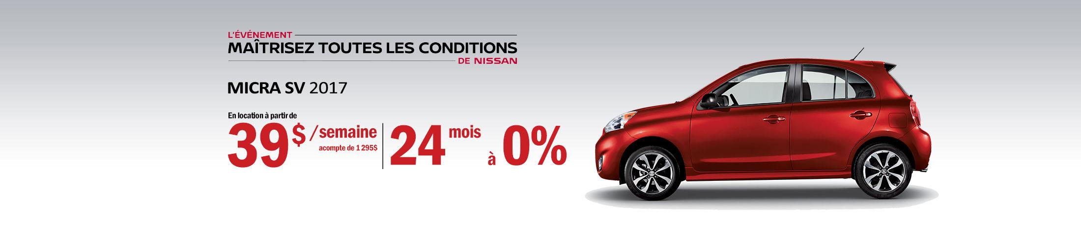 Nissan Micra Promotion janvier