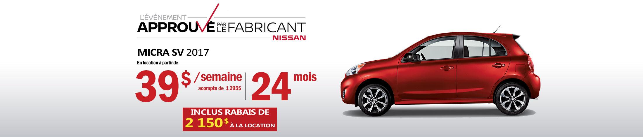 Nissan Micra Promotion avril