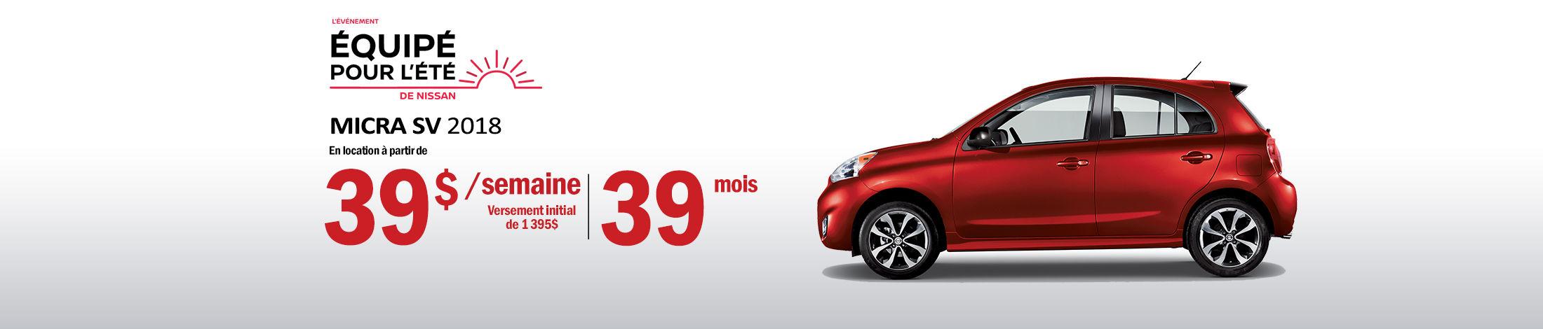 Nissan Micra Promotion juillet