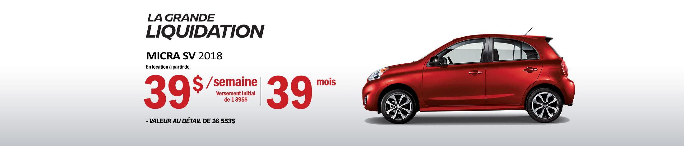 Nissan Micra Promotion aout