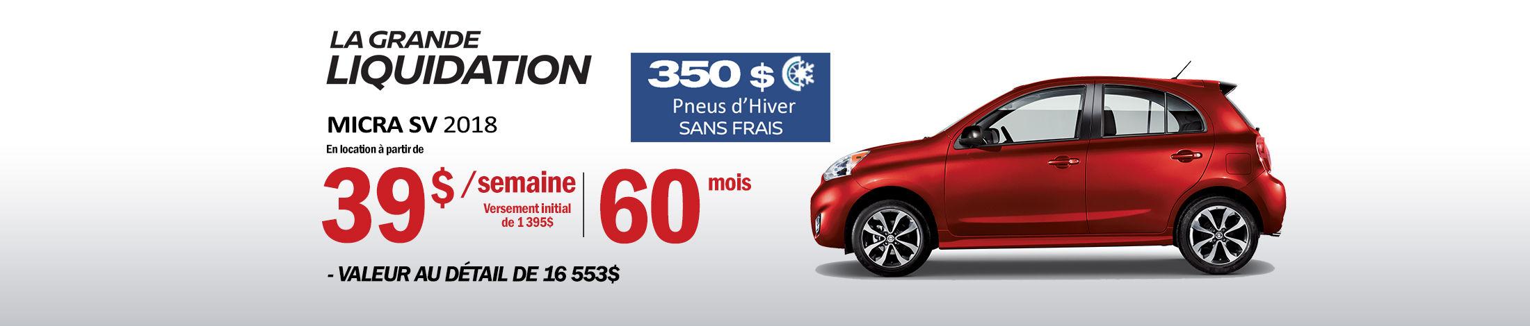 Nissan Micra Promotion octobre