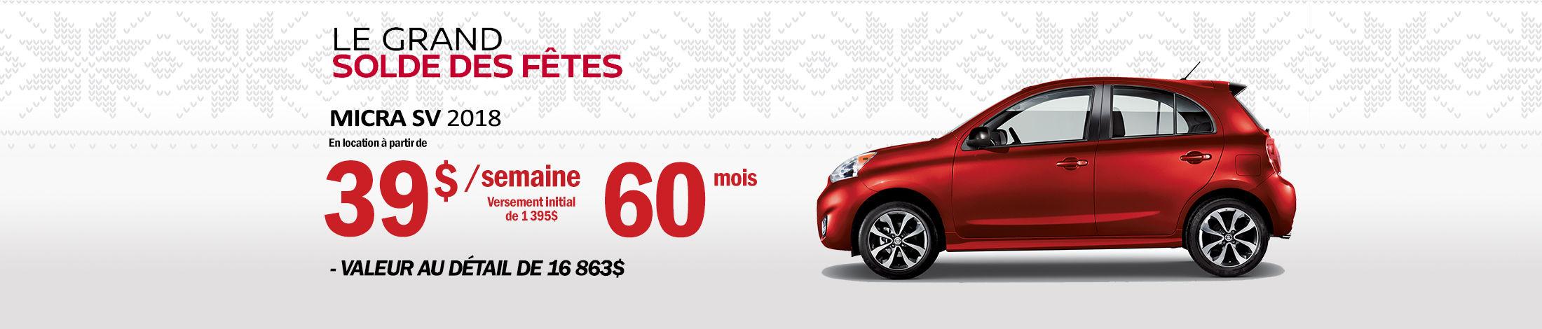 Nissan Micra Promotion novembre