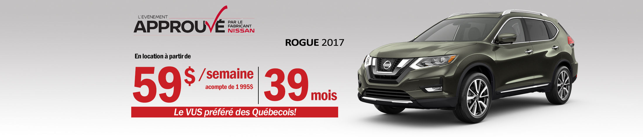 Nissan Rogue Promotion Mai - Banner