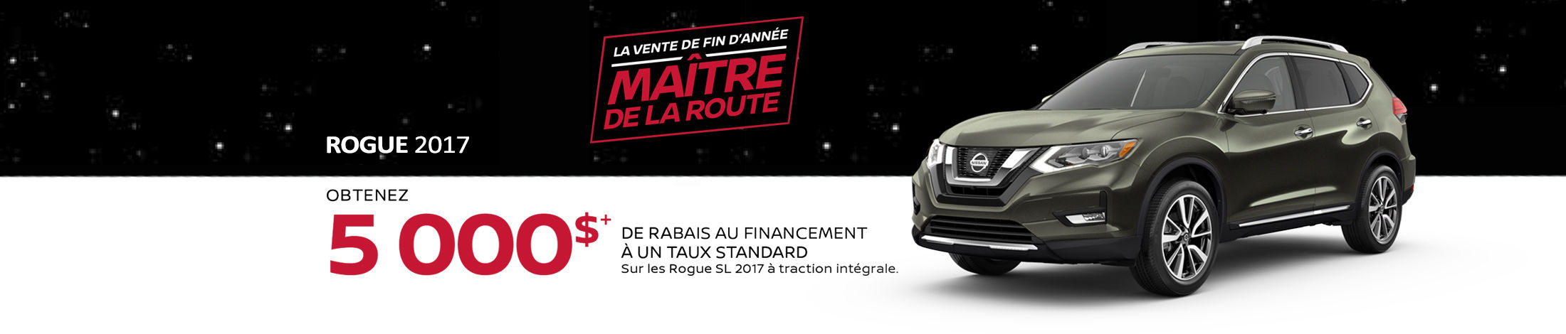 Nissan Rogue Promotion novembre - Banner