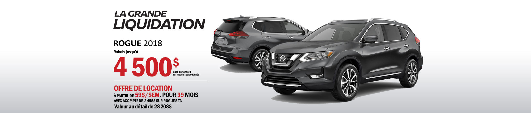 Nissan Rogue Promotion septembre