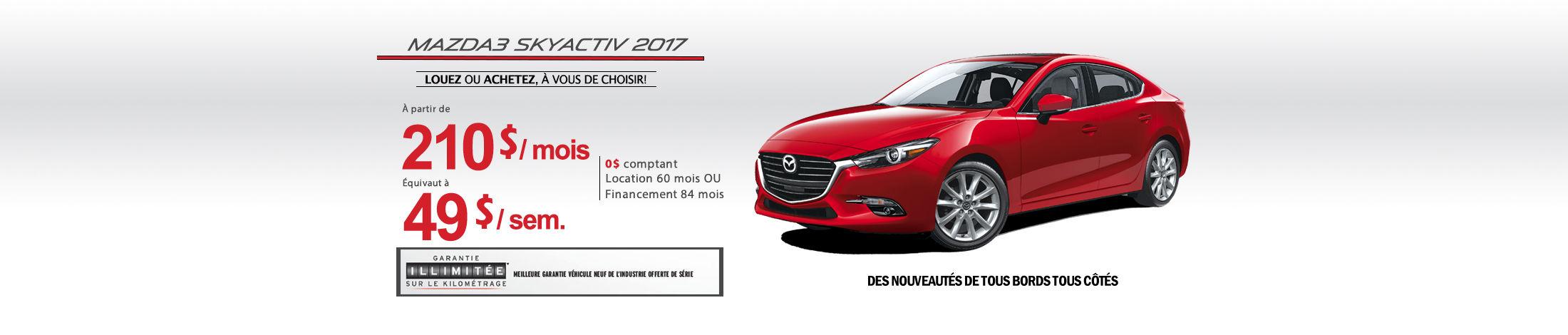 2017 Mazda3 Banner