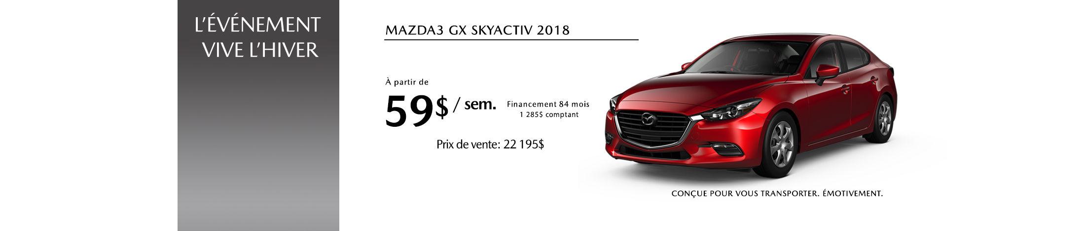 Mazda3 2018 Banniere