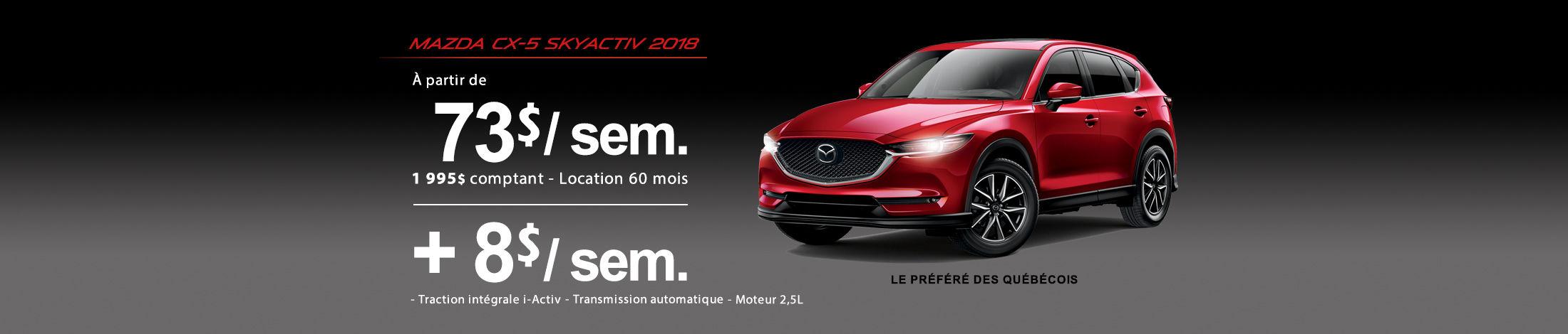 Mazda CX-5 2018 Banniere