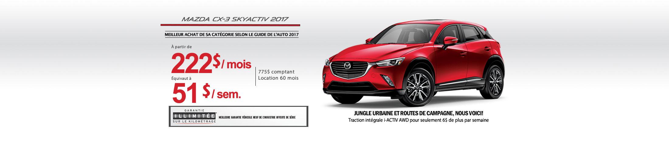 Mazda CX-3 2017 Banniere (Copie)