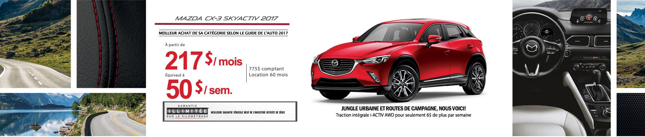 Mazda CX-3 2017 Banniere